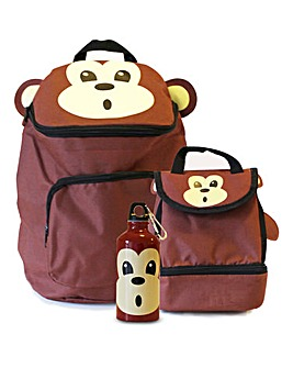 Baby Animal Monkey Backpack and Lunch