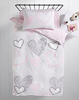 Heartbreaker Reversible Duvet Set