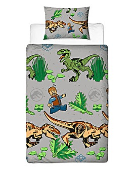 Lego Jurassic World Foliage Single Duvet