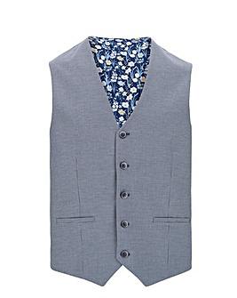 Blue Liam Puppytooth Waistcoat