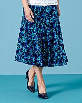 Print Jersey Panelled Skirt