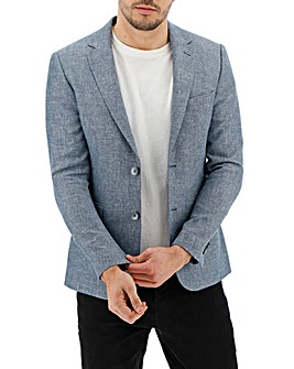 Blue Mick Textured Regular Blazer