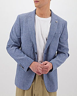 Blue Oliver Plain Regular Fit Blazer