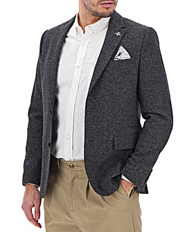 Charcoal Peter Textured Regular Blazer