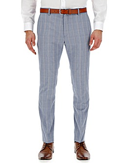Light Blue Check Bill Regular Suit Trousers