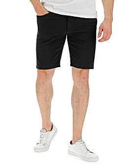 Black Gaberdine Shorts
