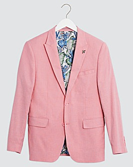 Pink Oliver Plain Regular Fit Blazer