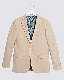 Stone Oliver Plain Regular Fit Blazer