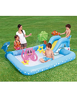 Bestway Aquarium Play Pool with Slide and Sprinkler