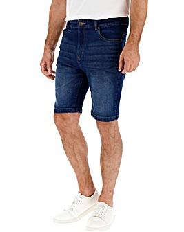 Indigo Stretch Denim Shorts