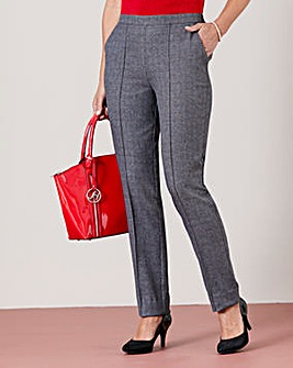 Pull On Check Trouser Extra Short