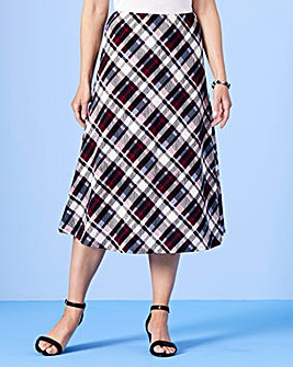 Check Print Skirt L29in