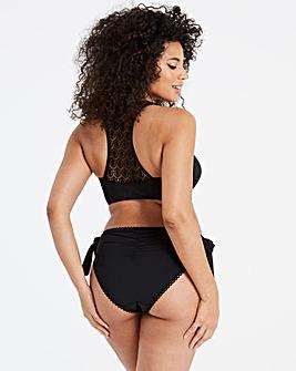 Black Crochet Back Bikini Top
