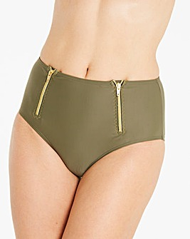 Beach to Beach Zip High Waist Brief