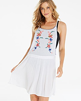 Simply Yours Embroidered Beach Pinafore