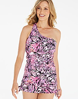 Magisculpt Pink One Shoulder Swimdress