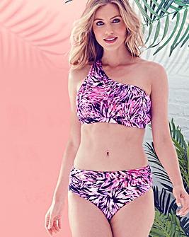 Magisculpt Pink One Shoulder Bikini Top