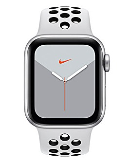 Apple Watch Nike Series 5 40mm - GPS + Cellular, Platinum/Black Sport Band