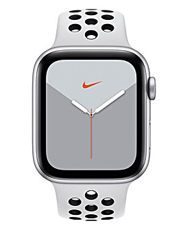 Apple Watch Nike Series 5 44mm - GPS + Cellular, Platinum/Black Sport Band