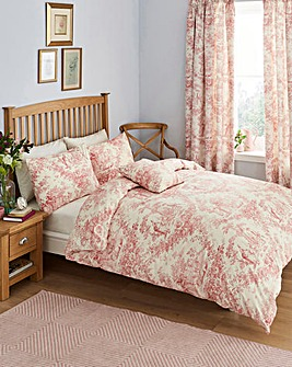 Rose Toile Duvet Cover Set
