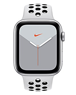 Apple Watch Nike Series 5 44mm - GPS, Platinum/Black Sport Band