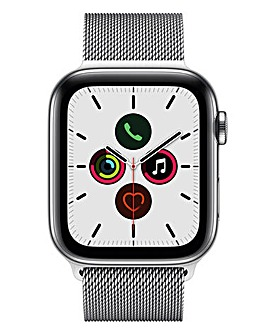 Apple Watch Series 5 44mm - GPS + Cellular, Stainless Steel Milanese Loop