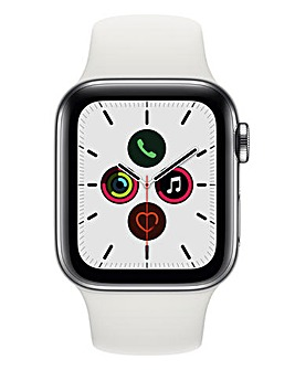 Apple Watch Series 5 40mm - GPS + Cellular, White Sport Band