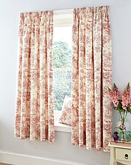 Rose Toile Lined Curtains