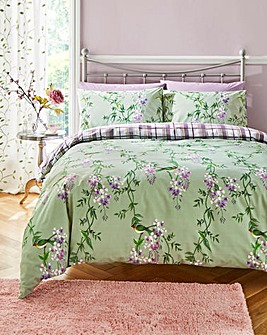 Green Garden Duvet Cover Set