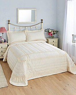 Luxury Lace & Satin Bedspread Set