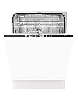 Hisense HV6120UK 13 Place Integrated White Dishwasher with Auto Dry
