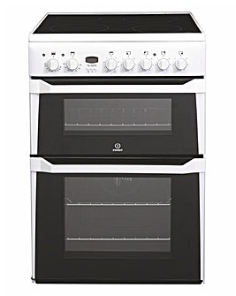 Indesit ID60C2WS White 60cm Electric Ceramic Double Oven Cooker + Installation