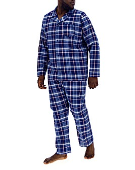 Navy Check Long Pyjama Set
