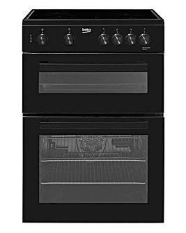 Beko KDC611K 60cm Double Oven Ceramic Cooker