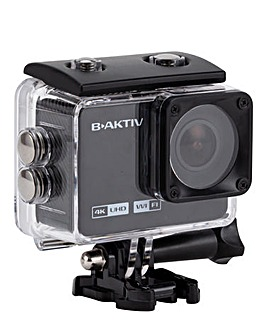 B-AKTIV 4K Wifi Action Camera & Accessories
