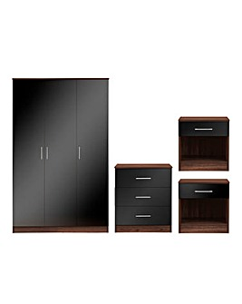 Miami Gloss 4 Piece Bedroom Package
