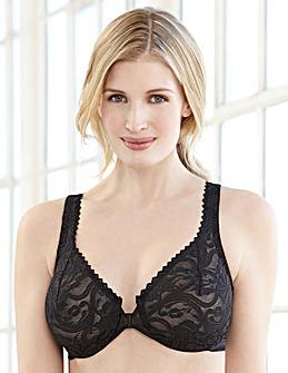 Glamorise 9245 Elegance Lace Front Close Underwire  Bra