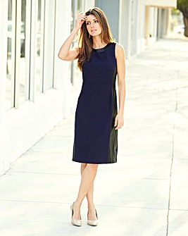JOANNA HOPE Pu Trim Shift Dress