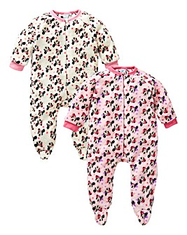 Minnie Mouse Pack Of Two Sleepsuits