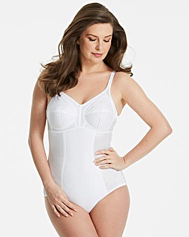 Naturally Close Dotty Firm Control White Pantee Corselet