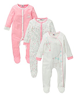 Baby Pack of Three Sleepsuits