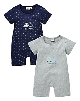 Baby Pack of Two Rompers