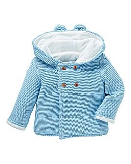 KD Baby Boy Fleece Lined Cardigan
