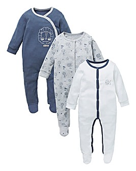 KD Baby Boy Pack of Three Sleepsuits