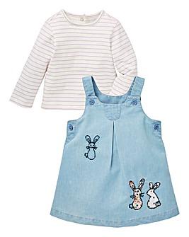 Baby Girl Denim Dress Set