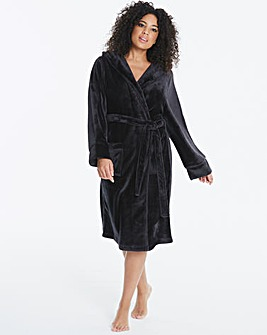 Pretty Secrets Luxury Hooded Black Gown