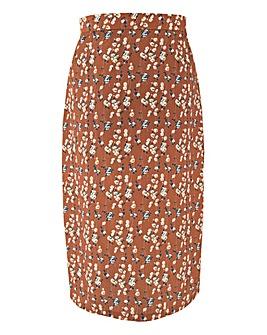 Daisy Street Floral Button Midi Skirt