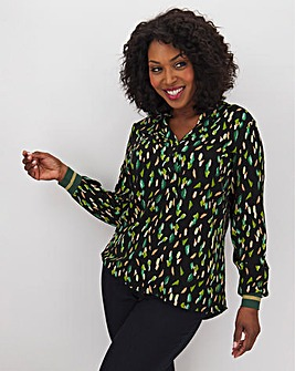 Junarose Smudge Print Top