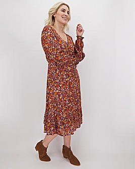 Junarose Ditsy Floral Midi Dress