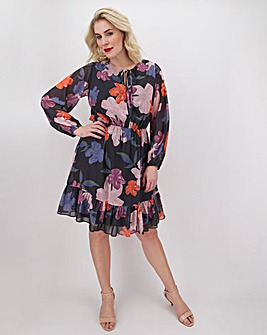 Lovedrobe Floral Ruffle Hem Dress